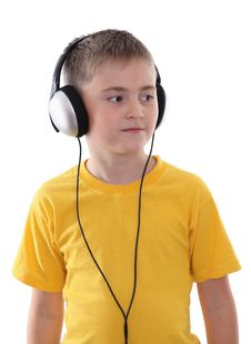 Free A Boy Listening To The Music Stock Photo - 22903150