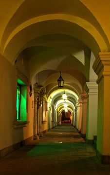 Free Passageway At Night Stock Image - 22904881