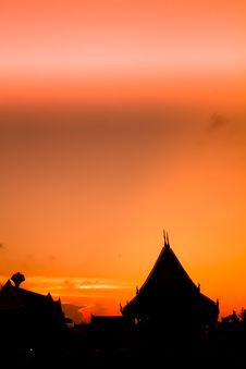 Free Silhouette Of The Roof ,THAILAND Stock Images - 22905194
