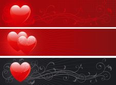 Free Set Of Valentins Day Banners Stock Photography - 22905442