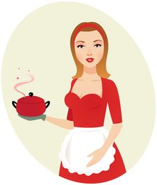 Free Sexy Girl Chef Stock Photography - 22909142
