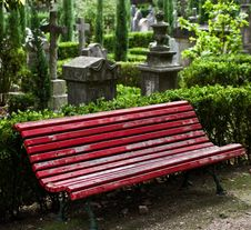 Free Red Bench Stock Images - 22909434