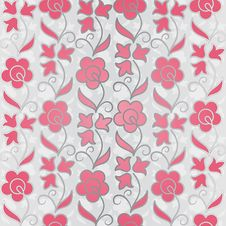 Free Seamless Flower Pattern Background Royalty Free Stock Images - 22909789