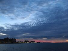 Dawn In September At Coney Island In Brooklyn, New York, NY. Stock Photo