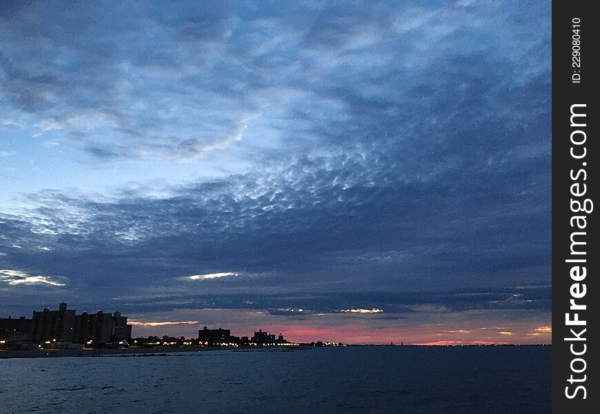 Dawn in September at Coney Island in Brooklyn, New York, NY.