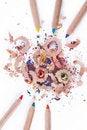 Free Multi-coloured Pencil With Crayon Shavings Stock Photos - 22913713