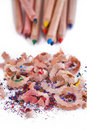 Free Multi-coloured Pencil With Shavings Stock Image - 22913851