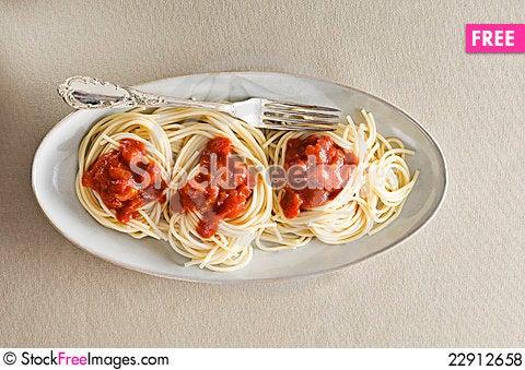 Free Spaghetti Royalty Free Stock Photos - 22912658