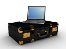 Free Laptop In The Suitcase Royalty Free Stock Photo - 22913785