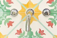 Free Water Tap With Colorful Backgroud Stock Photography - 22913892