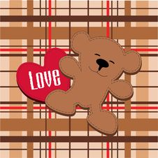 Bear With Heart Stock Photos