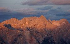 Romantic Alpine Sunset Royalty Free Stock Image