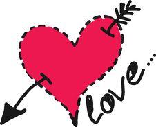 Free Heart With An Arrow Stock Photos - 22915803