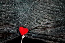 Free Canvas With Heart On Rope. Royalty Free Stock Image - 22917326