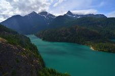 Lake Diablo In The Northern Cascades, Washington Royalty Free Stock Image