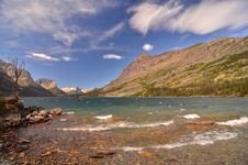 Free St Marys Lake, Glacier Park, Montana Royalty Free Stock Images - 22920819