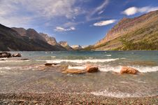 Free St Marys Lake, Glacier Park, Montana Stock Photos - 22920853