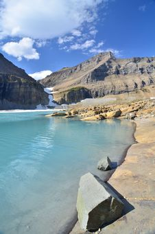 Free Upper Grinnell Lake, Glacier National Park Stock Image - 22921051