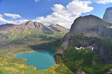 Free Lake Grinnell From The Highline Trail Royalty Free Stock Image - 22921096
