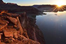 Sunrise At Glen Canyon Stock Images