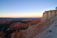 Free Bryce Canyon Overlook At Sunset Royalty Free Stock Images - 22921509