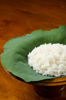 Free Portrait Of Steam Rice Stock Photography - 22922152