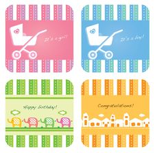 Free Baby Invitation Card Stock Images - 22922894