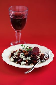 Free Beetroot And Cheese Salad Stock Images - 22923474