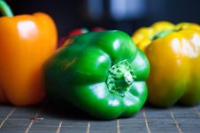 Free Pepper In A Row Royalty Free Stock Photos - 22925078