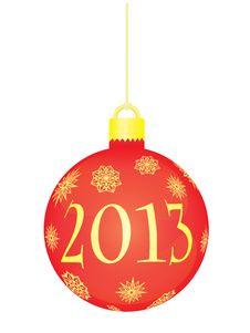 Christmas Ball 2013 Royalty Free Stock Image