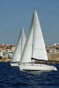 Free The Sailboats Royalty Free Stock Photos - 22928898