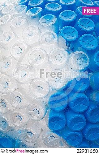 Pattern Of Empty Plastic Bottles