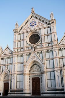 Santa Croce Church, Florence Royalty Free Stock Images
