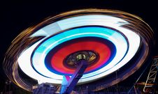 Roundabout At Night Royalty Free Stock Photography