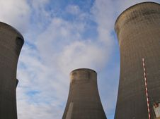 Free Cooling Towers In A Power Station Stock Photo - 22933270