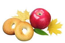 Free Apple And Bagels Stock Photo - 22933660