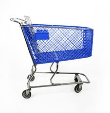 Free Blue Shopping Cart Royalty Free Stock Photography - 22934437