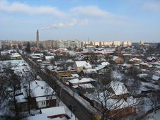 Free View On Winter City Royalty Free Stock Photography - 22934747