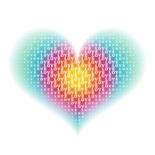 Free Love Word Characters On Heart Background Stock Image - 22936661