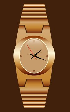 Free Watch Gold Realistic. Stock Image - 22938191