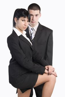 Free Portrait Of Business Man And Woman Stock Images - 22938564