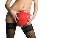 Free Sexy Woman And Protective Cap Royalty Free Stock Photography - 22938647