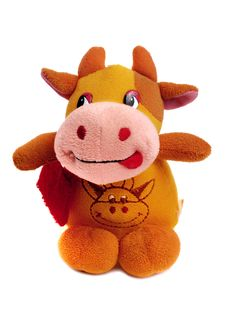 Little Cow Toy Royalty Free Stock Photos