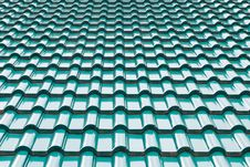 Green Color Roof Tile Royalty Free Stock Image