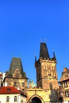 Malostranska Mostecka Vez, Monuments Prague Stock Photo