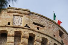 Top Of The Tower, Acquaviva Picena S Fortress Stock Photography