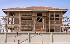 Under Construction House Royalty Free Stock Image