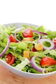 Free International Green Salad Whit Tomato End Union Stock Images - 22945144