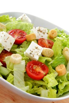 Free International Green Salad Whit Tomato End Feta Royalty Free Stock Images - 22945219