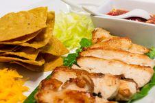 Free Chicken Nacho On White Plate Royalty Free Stock Photo - 22946655